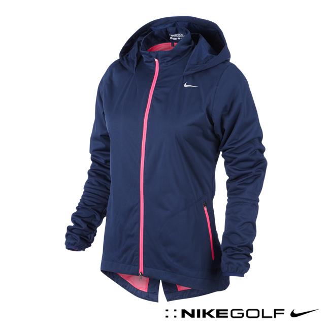 (女)Nike Golf 防風、防潑水機能系列連帽外套-紫