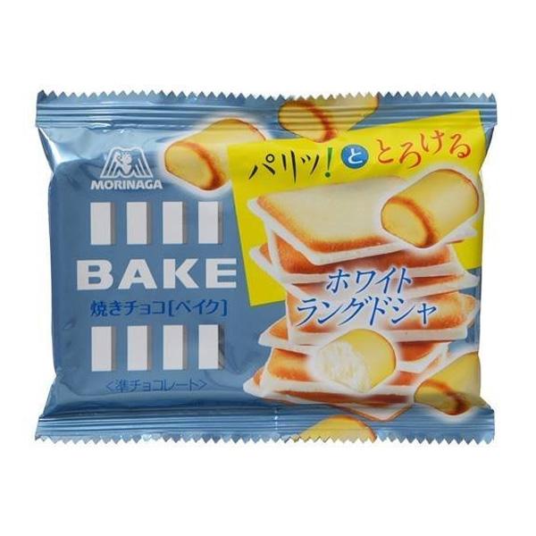 日本 MORINAGA 森永製果 BAKE 白巧克力薄鹽餅乾