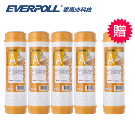 EVERPOLL愛惠浦科技 一般標準型日本三菱樹脂濾芯(EVB-M100A)[買4+送1]