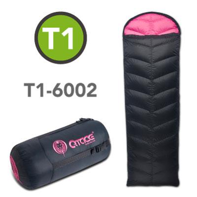 QTACE-T1-600g-黑桃 羽絨睡袋/露營/登山/背包客