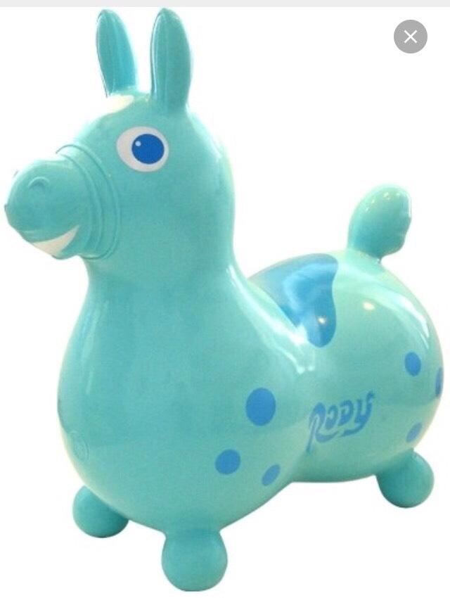 ★衛立兒生活館★義大利RODY超彈力跳跳馬 【淺藍】(Baby 感覺統合)