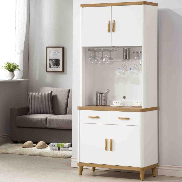 【尚品傢俱】K-403-17 2.7尺餐櫃~另有4尺、5.3尺餐櫃/碗盤碟櫃/廚房收納櫃/灶腳櫥櫃(EP908)