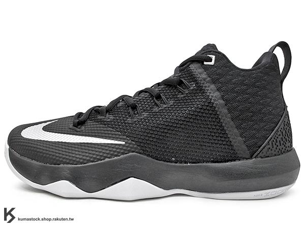 2016年 NBA LeBRON JAMES 子系列代言鞋款 戶外專用鞋款 NIKE AMBASSADOR IX 9 黑灰銀 大使 HYPERFUSE + FLYWIRE 鞋面科技 前 後 ZOOM ..