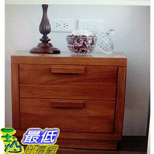 [COSCO代購 如果沒搶到鄭重道歉] 優渥實木柚木系列新雙抽邊櫃 W112683