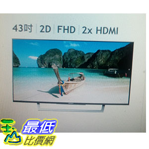 [COSCO代購 如果沒搶到鄭重道歉] SONY 43吋 LED 液晶電視 KDL-43W750 W112108