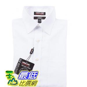 [COSCO代購 如果沒搶到鄭重道歉] Kirkland Signature 科克蘭 男長袖 標準領免燙襯衫 (白色) W907895-B