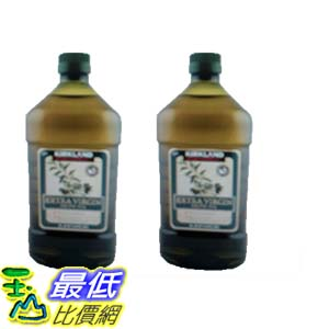 [COSCO代購 如果沒搶到鄭重道歉] Kirkland Signature 科克蘭 冷壓初榨橄欖油 2公升 (2入) W1058619