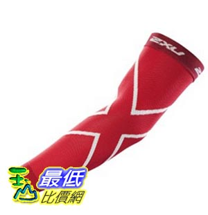 [美國直購] 2XU Compression Recovery Arm Sleeves 臂袖 S (Red)