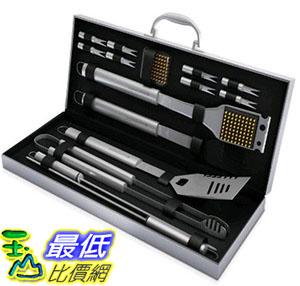 [105美國直購] BBQ Grill Tools Set with 16 Barbecue Accessories