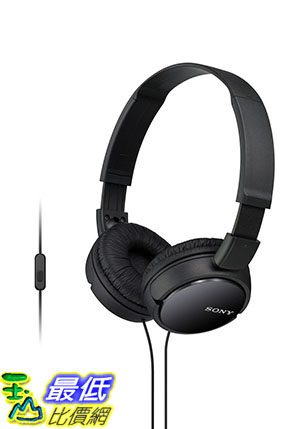 [美國直購] Sony MDRZX110AP 耳機 ZX Series Extra Bass Smartphone Headset with Mic (Black)