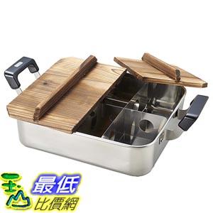 [東京直購] PEARL METAL H-4827 電磁爐可用 關東煮鍋 火鍋 湯鍋 附木蓋 28×24cm U3