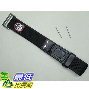 [美國直購] Genuine Luminox 22mm 27mm Navy Seal nylon velcro watch band black 3000 3050 3900 錶帶