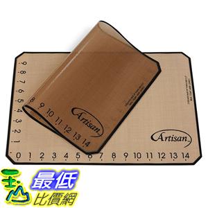 [美國直購] Artisan 80729WH 不沾黏矽膠烘培墊 Non-Stick Silicone Baking Mat with Measurements - 2 Pack