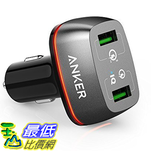 [美國直購] Anker AK-A2224011 車用充電器 42W 2-Port USB Car Charger PowerDrive+ 2 Quick Charge 3.0 2.0