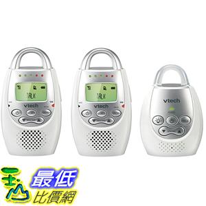 [美國直購] VTech DM221-2 Safe & Sound Digital Audio Baby Monitor with Two Parent Units 嬰兒叫醒器 監控器