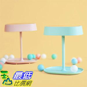 [玉山最低比價網] MUID 可充電式 LED 化妝鏡燈 三合一 化妝鏡 梳妝鏡 檯燈 儲物收納 三色
