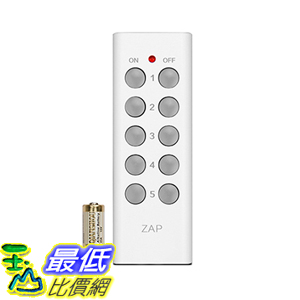 [美國直購] Etekcity 025706346252 5-Channel Remote Control for Outlet Receivers, White (1Tx) 插座遙控接收器