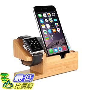 [美國直購] Amir Bamboo US-CP11 Wood Charging Stand 38mm/42mm Apple Watch & iPhone 6s/6/5s/SE 3 USB Ports..