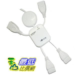 _B@[玉山最低比價網]  高速 USB 2.0 創意人形造型 4 PORT HUB 支援隨插即用 (20975_Q109)