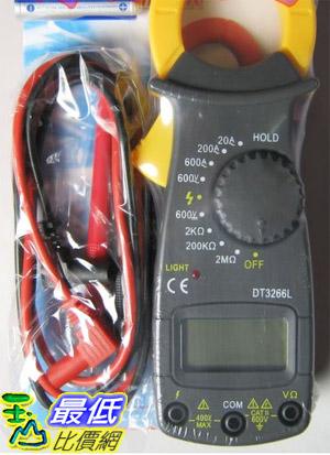 _a@[有現貨 馬上寄] DT3266L 三位半數位顯示 多功能勾型電表/電錶 直/交流電壓、電流、電阻 無蜂鳴(34463_Jb16)