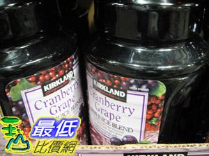 [玉山最低網] COSCO KIRKLAND SIGNATURE 蔓越莓葡萄綜合果汁飲料 每瓶 2.84公升 X 2 入 C48583 $408