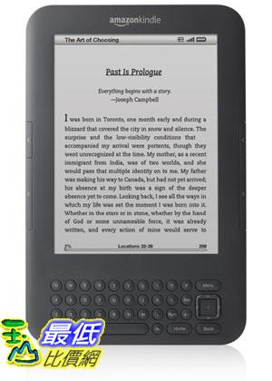 """[美國代購] Kindle 3G, Free 3G , 3G Works Globally, Graphite, 6"""" Display $6859 服務費100元"""