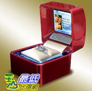[美國直購 ShopUSA]  Euricase - Ring Box (Jewelry Keepsake) with LCD for Videos, Audios & Pictures (Red) ..