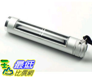 [玉山最低網] 鋁合金 太陽能手電筒 超亮迷你強光手電筒/太陽能5 LED充電手電筒( QC02 ) $199