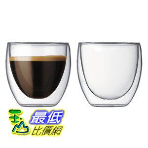 [美國直購] Bodum Pavina 4557-10US4 玻璃杯 2.5-Ounce Double Wall Glass, Extra Small, Clear- Set of 2 (一組2入)