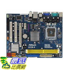 [美國直購 ShopUSA] ASRock 主機板 Core 2 Quad/Intel G31/FSB 1600(OC)/A&V&L/MATX Motherboard G31M-S R2.0 $239..