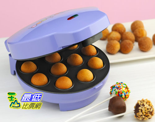 [104美國直購] Babycakes CP-12 Cake Pop Maker, 12 Cake Pop Capacity, Purple棒棒糖蛋糕機