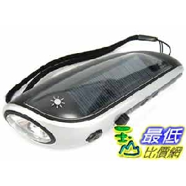 [玉山最低比價網] 手搖式發電 太陽能手電筒 4白光LED+FM收音機 可充手機 (17395_G119) $599