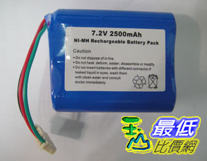 [玉山最低比價網] Mint 5200 5200C 抹地機 鎳氫 Ni-MH 2500mAh 充電電池 7.2V $968