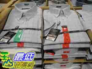 %[玉山最低比價網] COSCO KIRKLAND SIGNATURE 男短袖 純棉 休閒 免燙襯衫 美國尺寸:S~XL C678580 $636