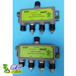 [103 美國直購] 一入 裝分配器 DirecTV 4-Way SWM Green Splitter MSPLIT4R1-01 SWiM 4 tb21