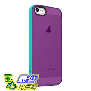 [美國直購 USAShop] Belkin 保護殼 Grip Candy Sheer Case / Cover for iPhone 5 and 5S (Purple / Turquoise)  $7..