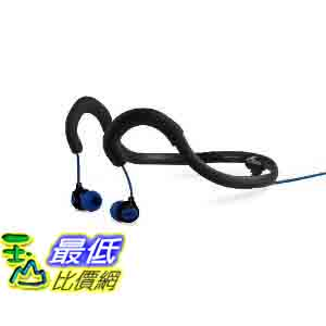 [美國直購 ShopUSA] H2O 入耳式耳機 Audio IEN2-BK Surge Sportwrap Waterproof In-Ear Headphones (Black/Blue)