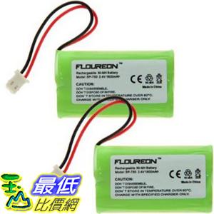 [104美國直購] 鎳氫電池 2X FLOUREON Ni-MH 1800mAh Battery for Sony NTM-910 NTM910 NTM-910YLW Sony Baby Call N..