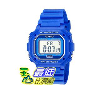 [104美國直購] Casio F108WH 手錶 Water Resistant Digital Blue Resin Strap Watch