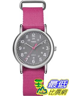 [美國直購 ShopUSA] Timex 中性男女通用錶 Weekender T2N834 Pink Nylon Quartz Watch #1681884706