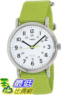 [美國直購 ShopUSA] Timex 中性男女通用錶 Weekender T2P145 Green Nylon Analog Quartz Watch #1681891784