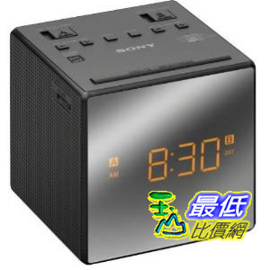 [103 美國直購] Sony 鬧鐘 ICF-C1 Alarm Clock Radio, Black ICFC1 BLACK 鬧鐘 黑 C11 $1299