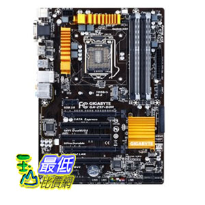 [103 美國直購 ShopUSA] Gigabyte 主機板 LGA 1150 Z97 SATA Express M.2 for SSD ATX DDR3 1600 Motherboard GA-Z..
