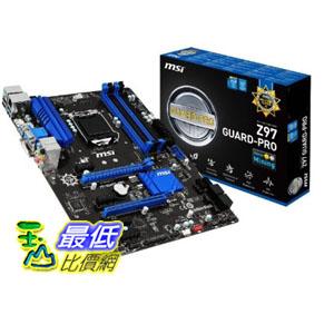 [103 美國直購 ShopUSA] MSI 主機板 ATX DDR3 2600 LGA 1150 Motherboards Z97 GUARD-PRO $5439