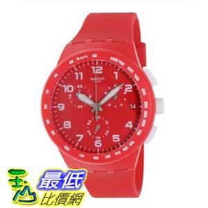 [美國直購 ShopUSA] Swatch 手錶 Originals Red Shadow Chronograph Red Silicone Unisex Watch SUSR400 $3846