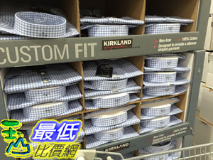 [104限量促銷] COSCO KIRKLAND 科克蘭 男短袖鈕釦領免燙襯衫 亞洲尺寸:S~XL C935276